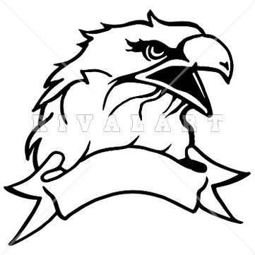 Black And White Eagle Clipart