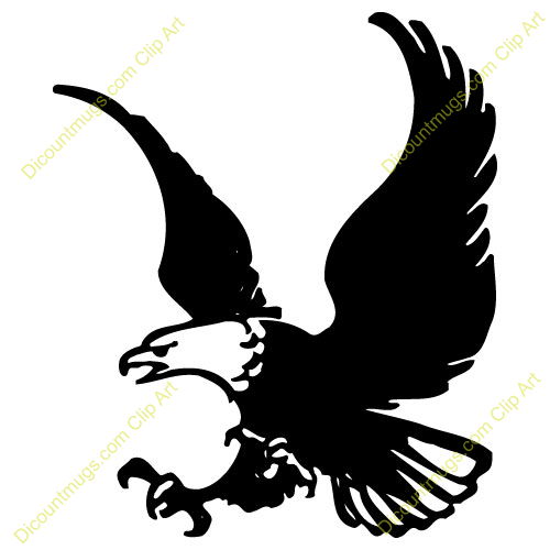 Red White Eagle Clip Art Bald Black And Clipart Transpa Png
