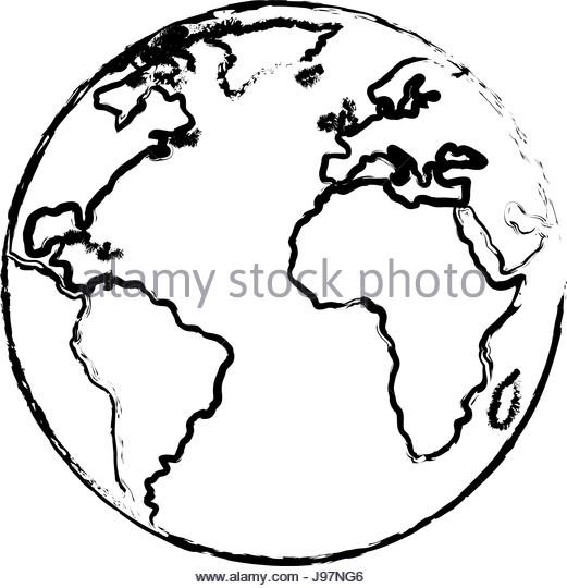 521x540 Globe Atlas Map Geography Black And White Stock Photos Amp Images