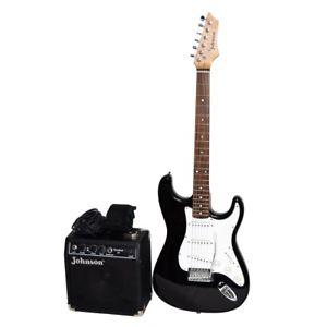 300x300 Johnson By Axl Electric Guitar Black Amp White + Johnson Standard 10