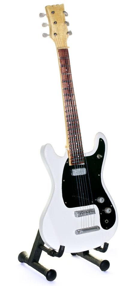 450x950 Ramones Black And White Miniature Electric Guitar