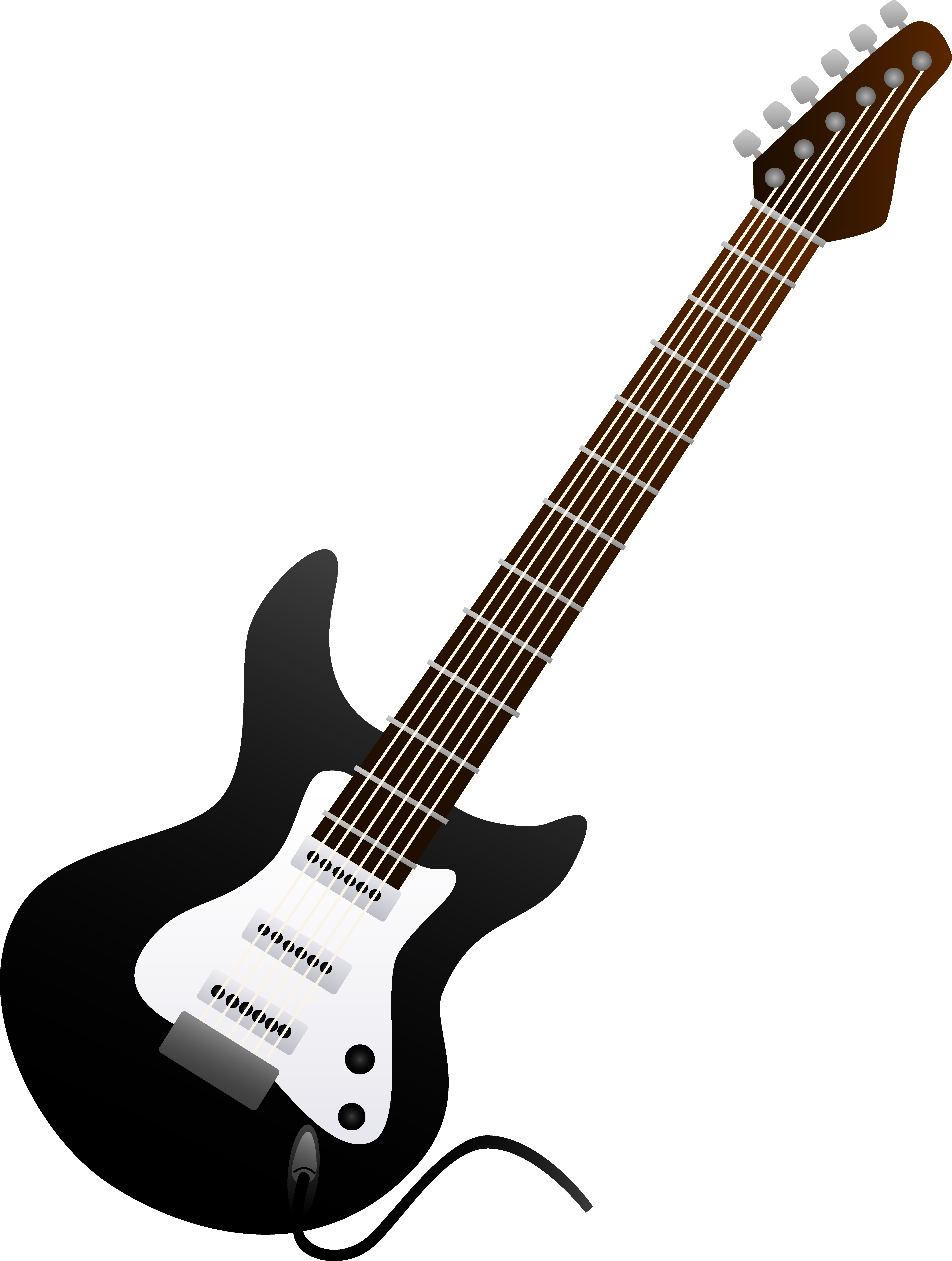 5971x7908 Black Electric Guitar Design