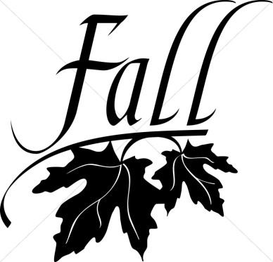 388x373 Black And White Fall Clipart