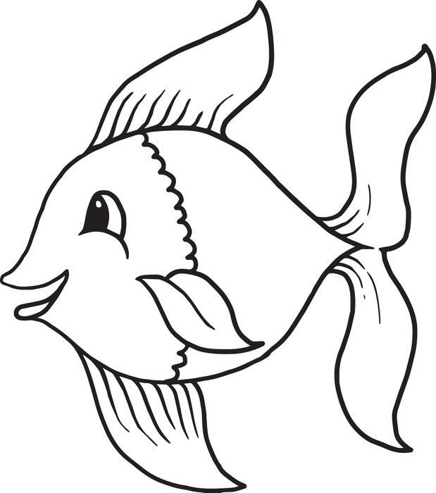 Black And White Fish Images on Preschool Animal Worksheet Print Outs