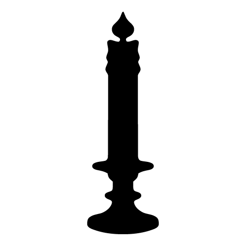 500x500 Candle Black And White Candle Flame Clipart Black And White Free 2
