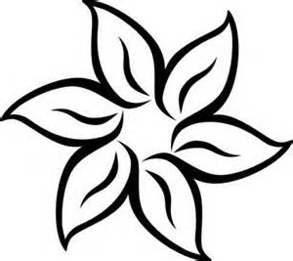 600x534 Flower Black And White Black And White Flower Border Clipart Kid