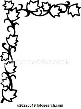 274x370 Flowers Clip Art Border Black And White