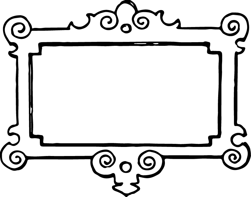 825x649 Frame Clipart Black And White