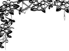 236x177 Free Printable Japanese Floral Art Spring Flower Border Clip Art