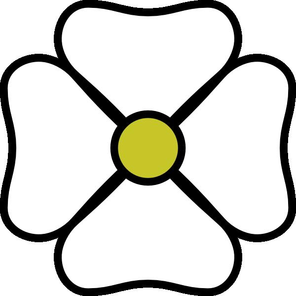 600x600 White Flower Clip Art