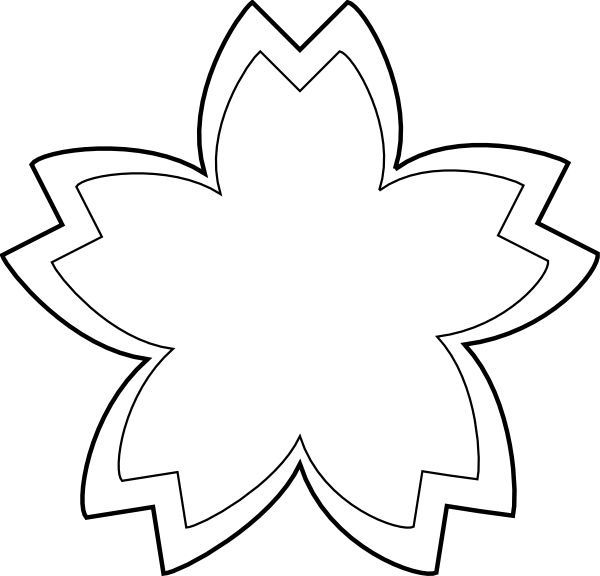 Black And White Flower Design Clipart