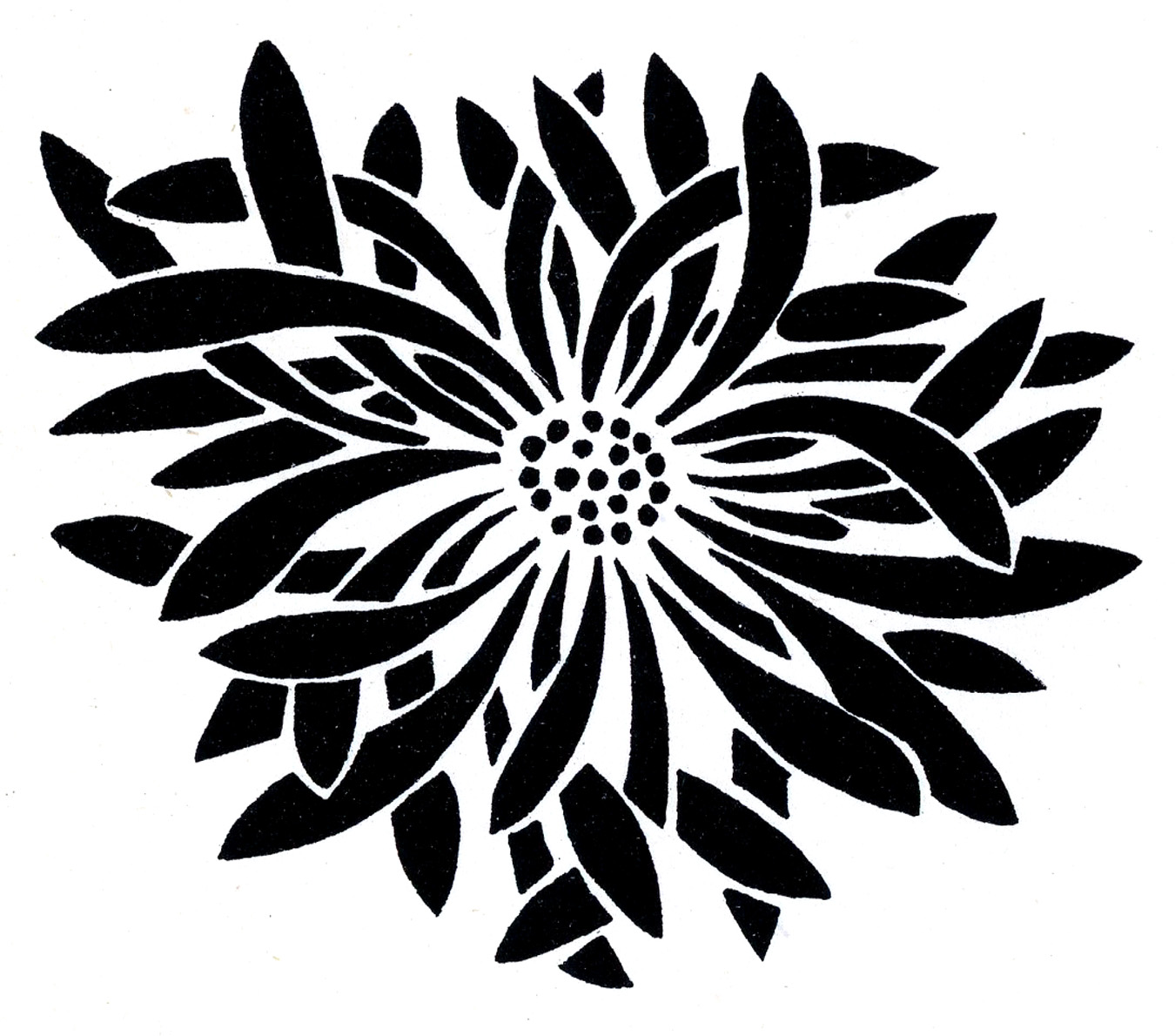 Black And White Flower Design Clipart Free Download Best Black And