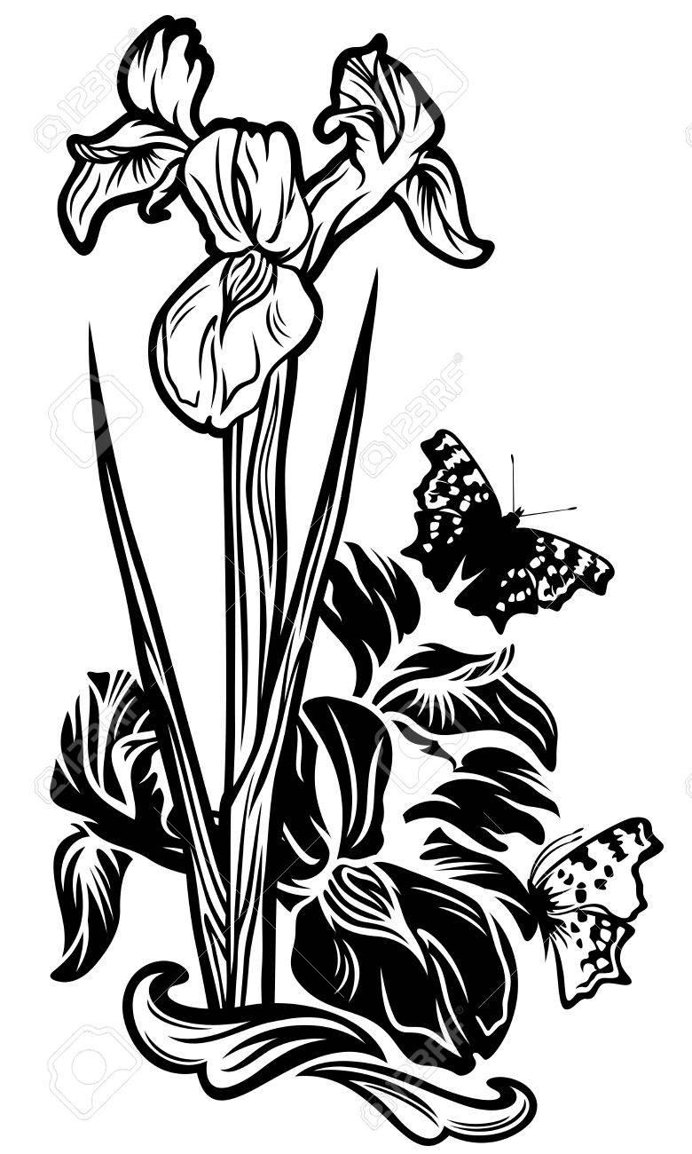 780x1300 Stunning Black And White Flower Design Ideas
