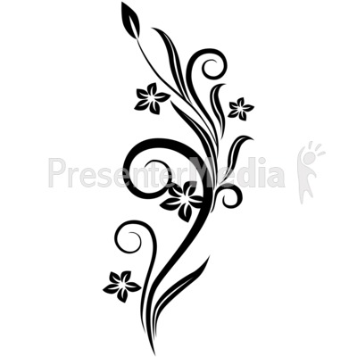 Black and white flower design clipart free download best black and 400x400 vines swirl red flowers mightylinksfo
