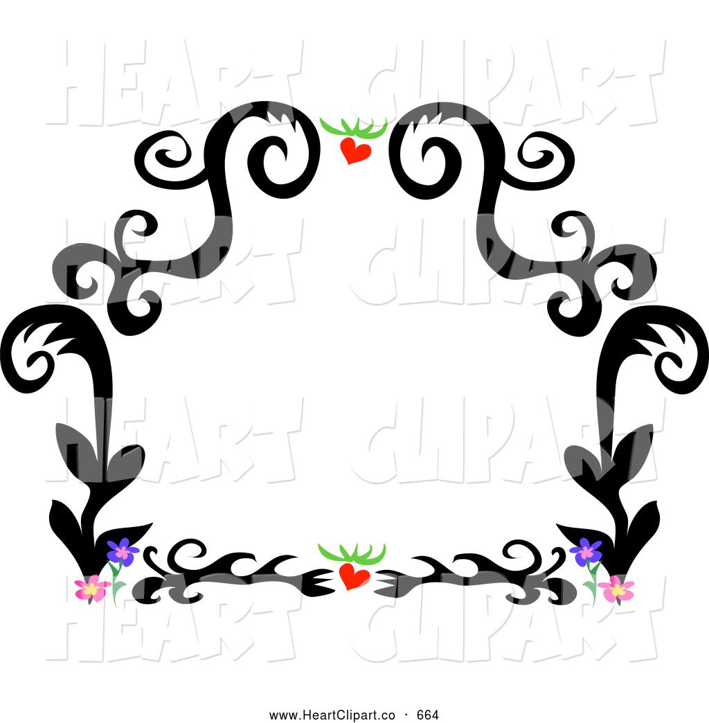 1024x1044 Flower Border Clipart Clip Art Of A Black Tattoo Plant Design
