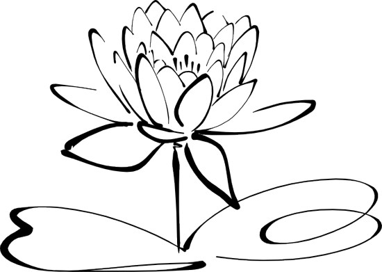 550x391 Clipart Flowers Black And White