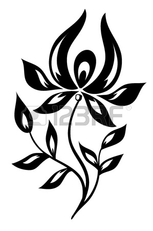299x450 Beautiful Black And White Lace Flower In The Corner With Space