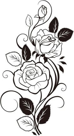 236x432 Black, Outline, Drawing, Flower, White, Flowers, Free Drawing