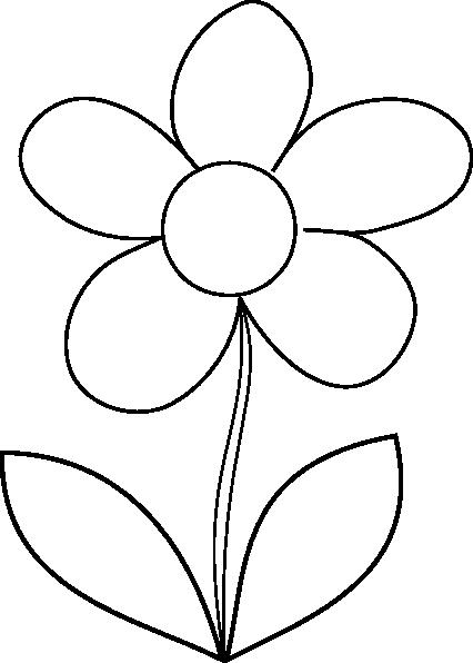 426x596 Cartoon Flower Clipart Black And White