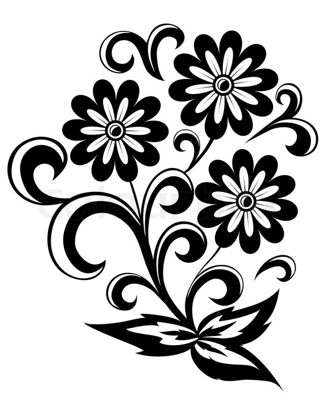 646x800 Graphics For Black And White Flower Vector Graphics Www