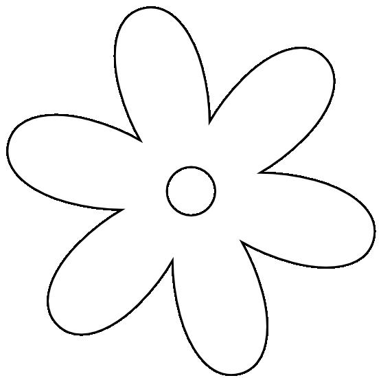 555x550 White Flower Clip Art
