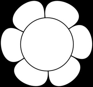 300x282 White Flower Clipart Simple Flower