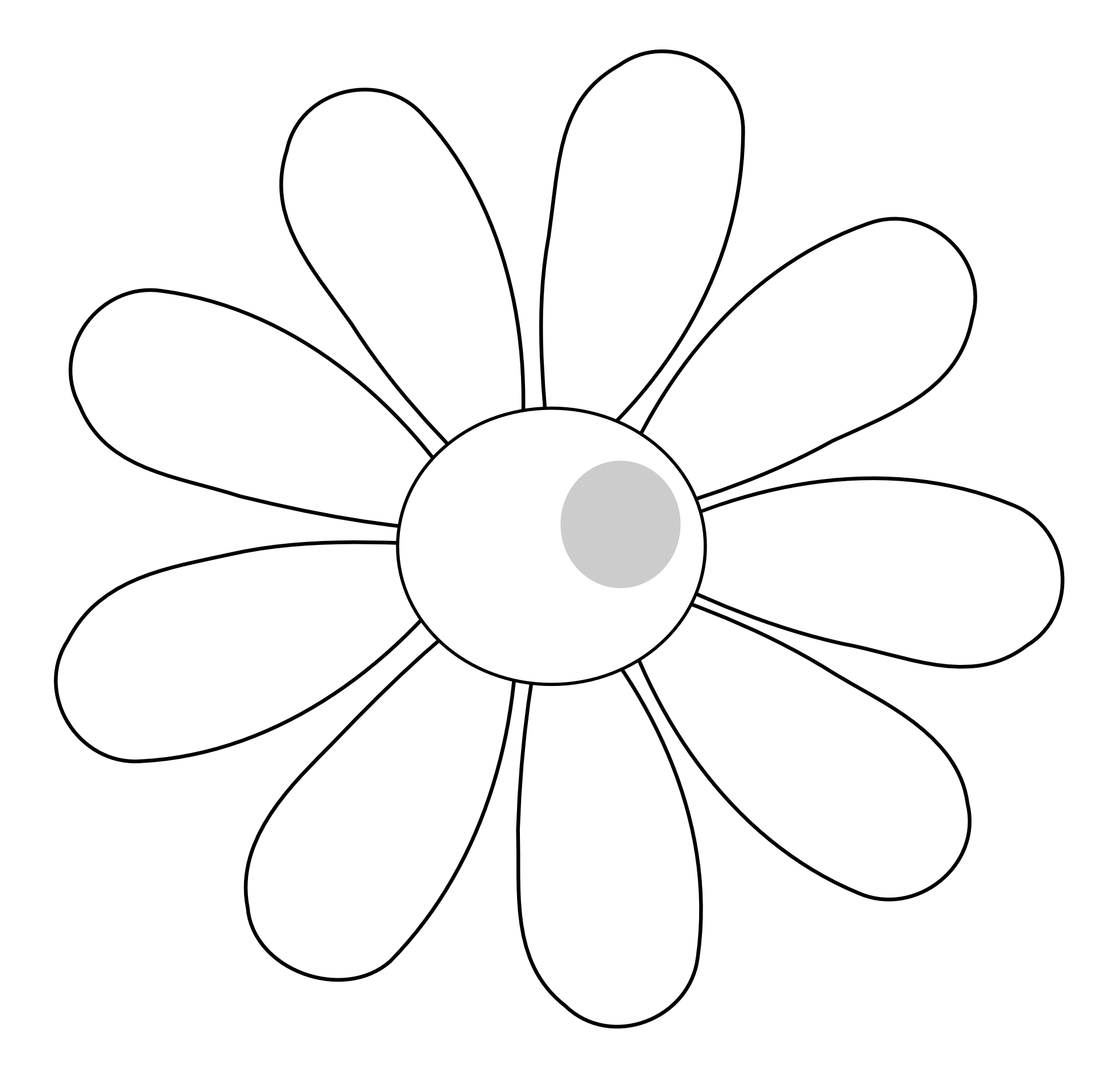 1969x1876 Simple Black And White Flower Clipart