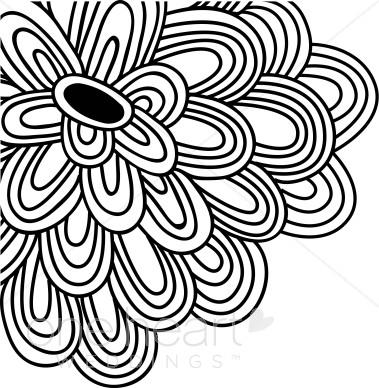 379x388 Black Flower Clipart Flower Clipart