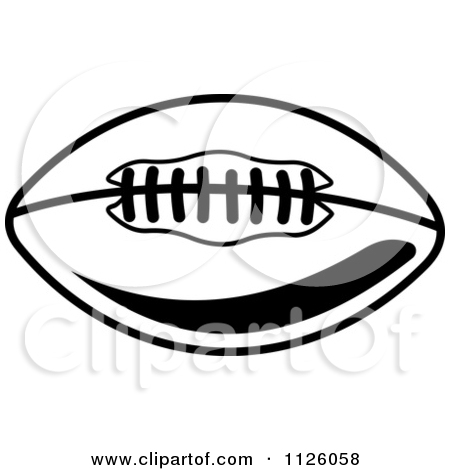 450x470 American Football Black And White Clipart 2054307