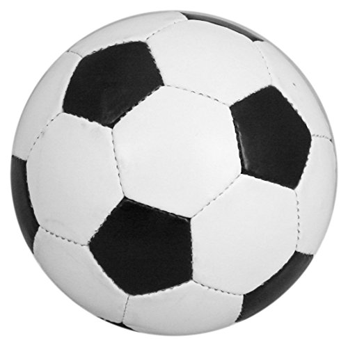 500x496 Traditional Size 5 Black And White Leather Football Amazon.co.uk