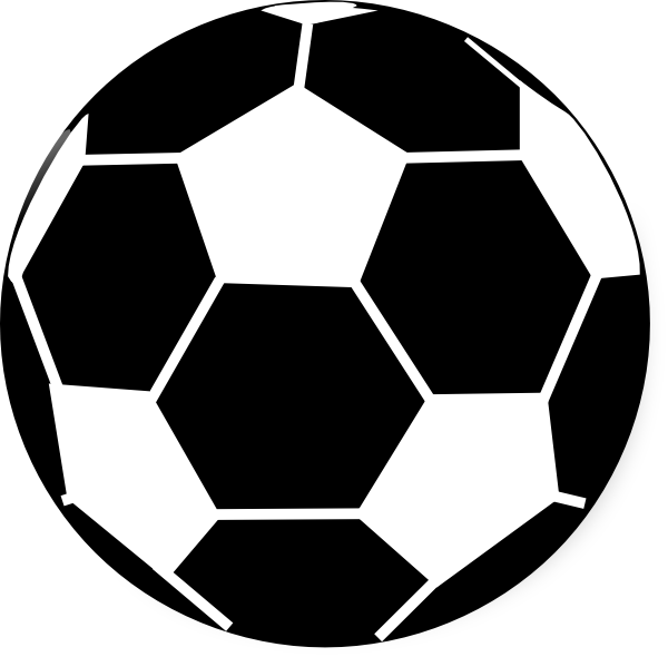 600x590 Black And White Football Clipart