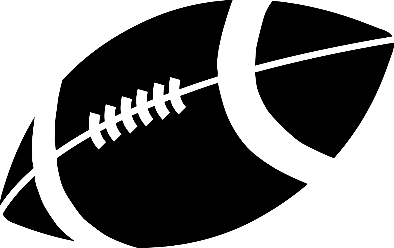 1349x850 Black And White Football Clipart Clipartmonk