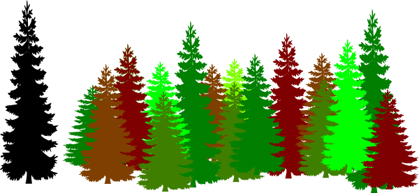 600x277 Forest Trees Clip Art