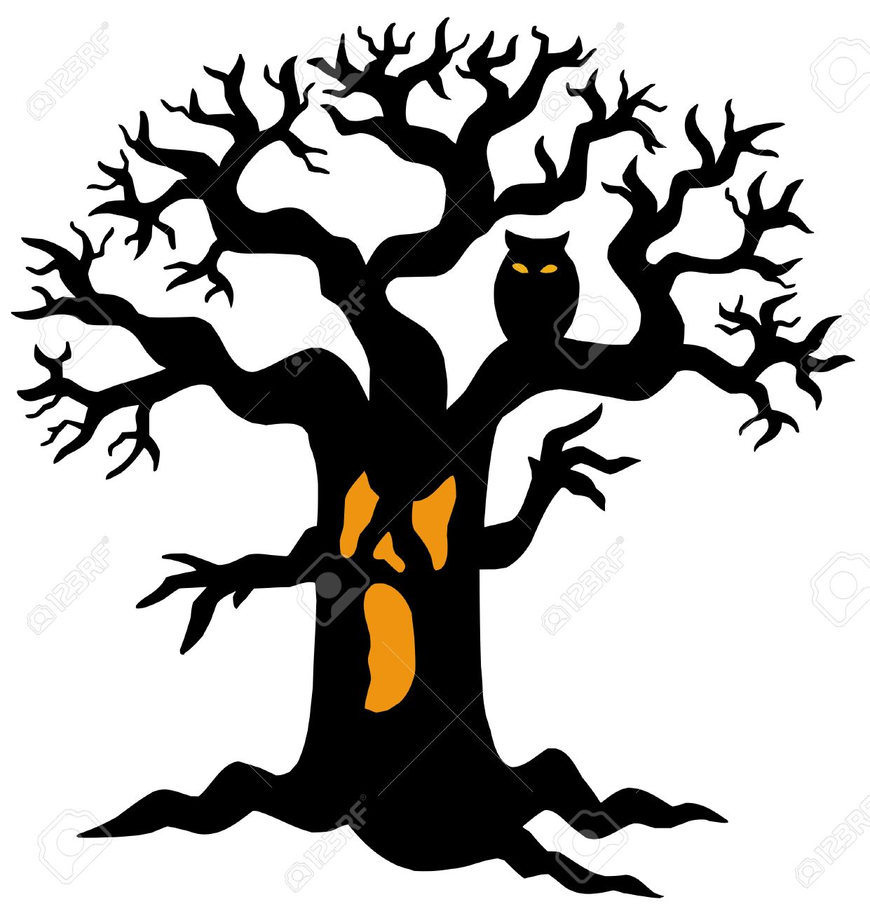 1241x1300 Forest clipart halloween