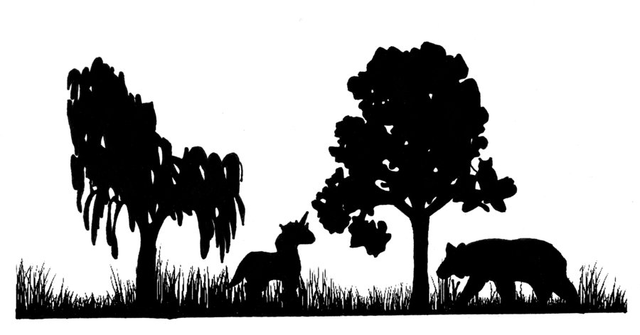900x471 Forest clipart silhouette