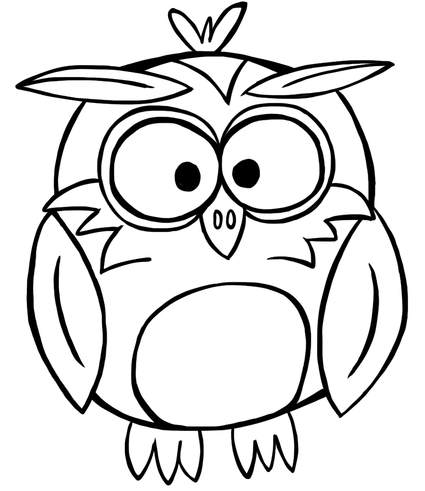 855x988 Bird Fall Owl Black And White Clipart