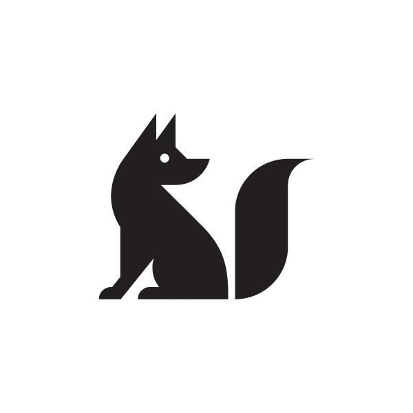 Black And White Fox Clipart