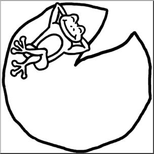 304x304 Clip Art Cartoon Frog On Lilypad Bampw I Abcteach