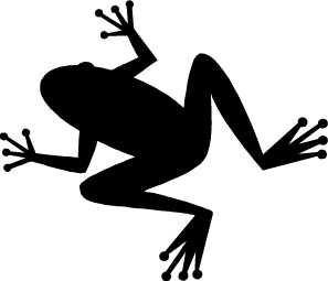 297x255 Frog Black And White Clipart