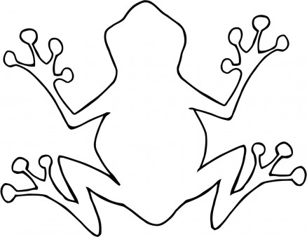 438x338 Outline Of A Frog
