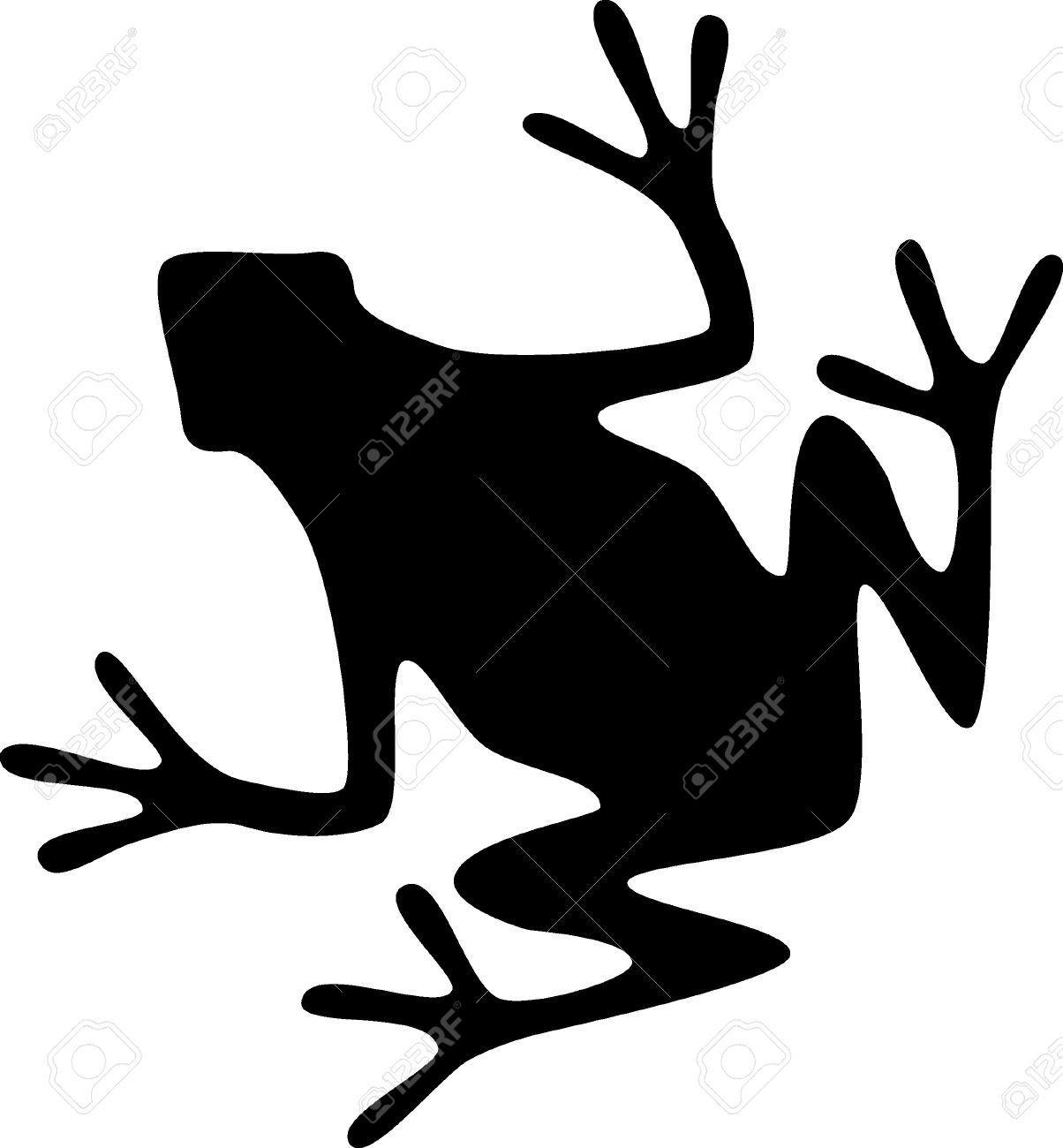 1204x1300 A Silhouette Of A Black Frog On White Background Royalty Free