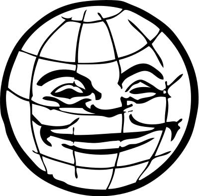 400x394 Free Globe Clipart