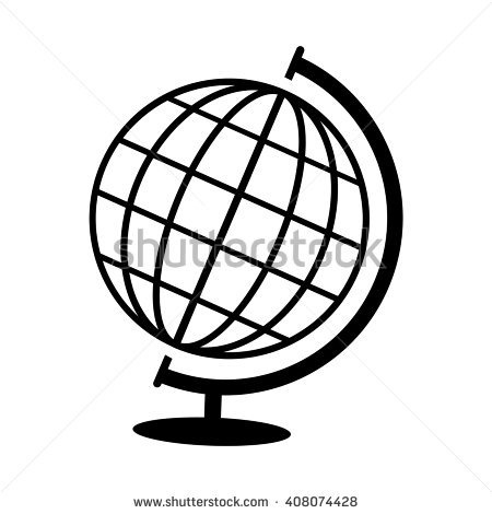 450x470 Globe On Stand Clipart Black And White Letters Example