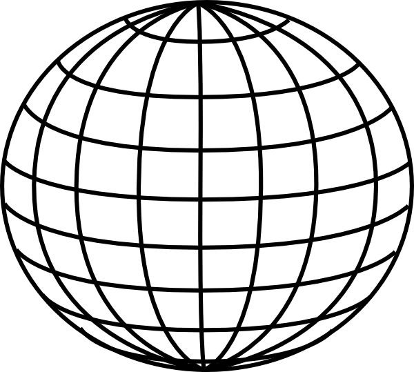 600x539 Globe black and white globe clipart black and white free images 8