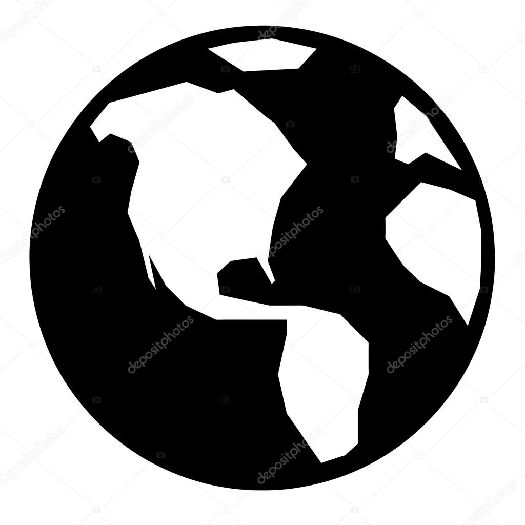 1024x1024 Simple Globe Icon — Stock Vector © ArenaCreative