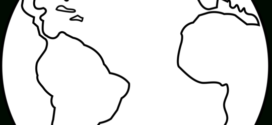 272x125 globe black and white outline clipart panda