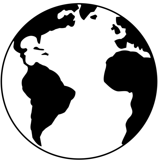 539x550 Globe Clipart Outline
