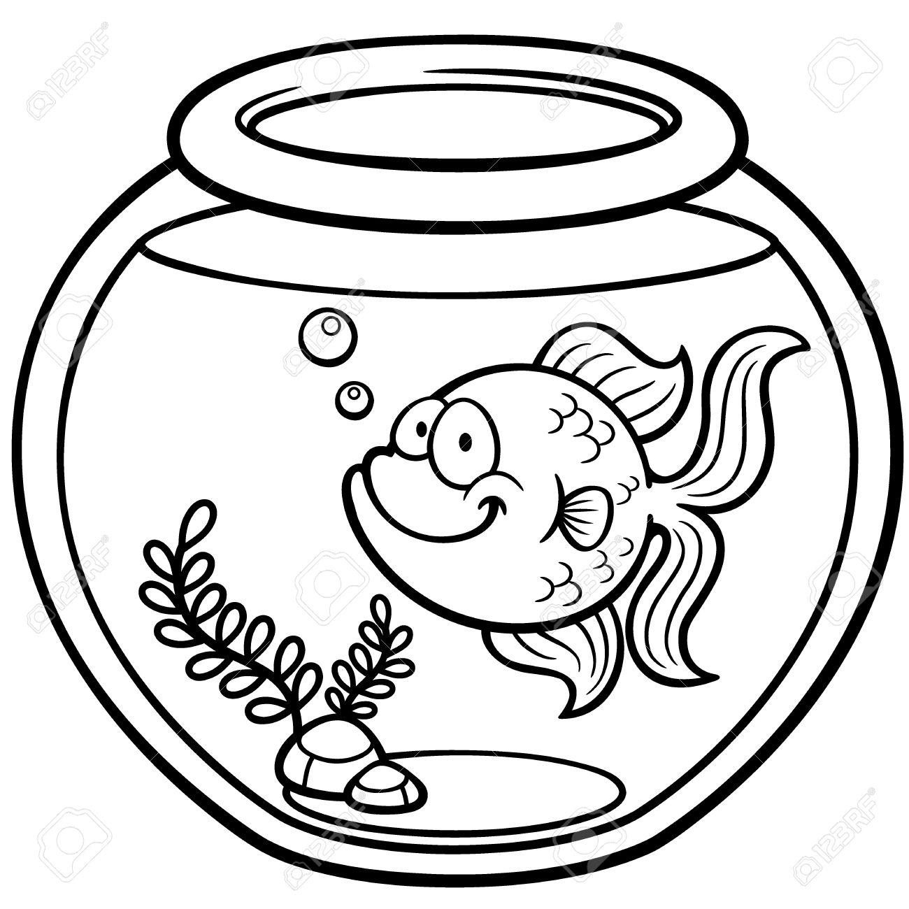 1300x1300 Goldfish Clipart Bowl Drawing