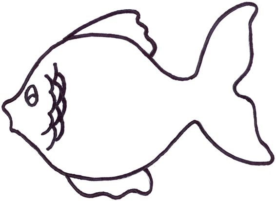 566x413 A Fish, Clipart Panda