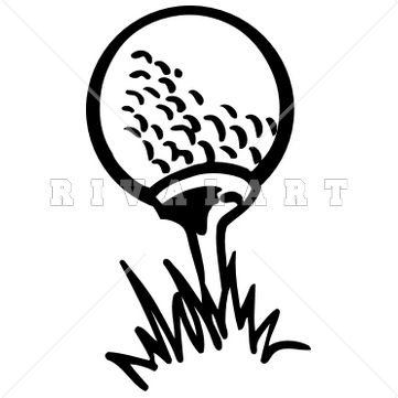 Black And White Golf Photos Clipart